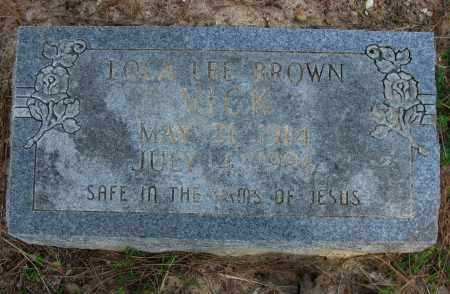 VICK, LOLA LEE - Pope County, Arkansas | LOLA LEE VICK - Arkansas Gravestone Photos