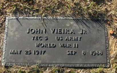 VIEIRA, JR (VETERAN WWII), JOHN - Pope County, Arkansas | JOHN VIEIRA, JR (VETERAN WWII) - Arkansas Gravestone Photos
