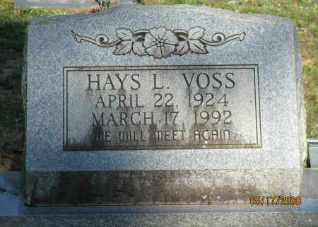 VOSS, HAYS L - Pope County, Arkansas | HAYS L VOSS - Arkansas Gravestone Photos