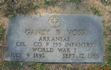 VOSS (VETERAN WWI), GANEY B. - Pope County, Arkansas | GANEY B. VOSS (VETERAN WWI) - Arkansas Gravestone Photos