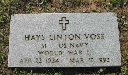 VOSS (VETERAN WWII), HAYS LINTON - Pope County, Arkansas | HAYS LINTON VOSS (VETERAN WWII) - Arkansas Gravestone Photos