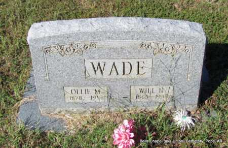 WADE, WILL J - Pope County, Arkansas | WILL J WADE - Arkansas Gravestone Photos