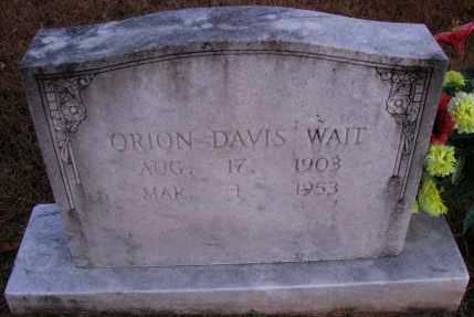 WAIT, ORION DAVIS - Pope County, Arkansas | ORION DAVIS WAIT - Arkansas Gravestone Photos