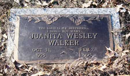 WESLEY WALKER, JUANITA - Pope County, Arkansas | JUANITA WESLEY WALKER - Arkansas Gravestone Photos
