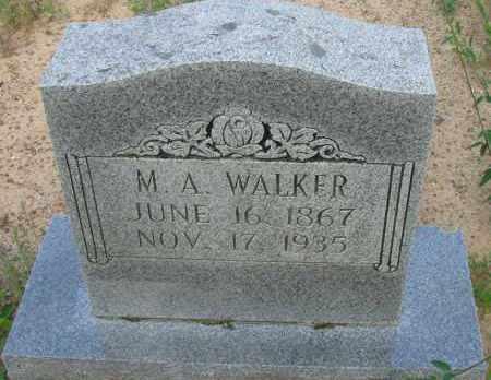 WALKER, M  A - Pope County, Arkansas | M  A WALKER - Arkansas Gravestone Photos