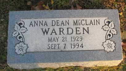 MCCLAIN WARDEN, ANNA DEAN - Pope County, Arkansas | ANNA DEAN MCCLAIN WARDEN - Arkansas Gravestone Photos