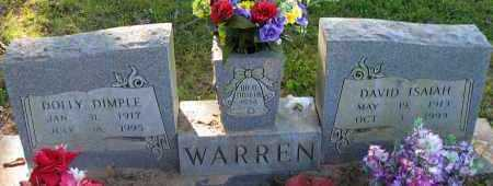 WARREN, DAVID ISAIAH - Pope County, Arkansas | DAVID ISAIAH WARREN - Arkansas Gravestone Photos