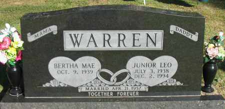 WARREN, JUNIOR LEO - Pope County, Arkansas | JUNIOR LEO WARREN - Arkansas Gravestone Photos