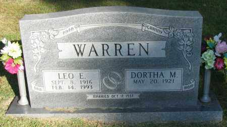 WARREN, LEO E - Pope County, Arkansas | LEO E WARREN - Arkansas Gravestone Photos