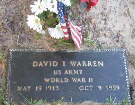 WARREN (VETERAN WWII), DAVID I - Pope County, Arkansas | DAVID I WARREN (VETERAN WWII) - Arkansas Gravestone Photos