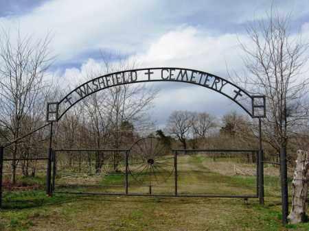 *WASHFIELD CEMTERY GATE,  - Pope County, Arkansas    *WASHFIELD CEMTERY GATE - Arkansas Gravestone Photos