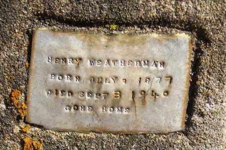 WEATHERMAN, HENRY - Pope County, Arkansas | HENRY WEATHERMAN - Arkansas Gravestone Photos