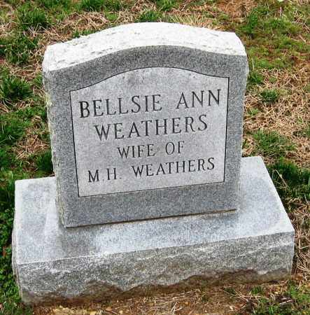 WEATHERS, BELLSIE ANN - Pope County, Arkansas | BELLSIE ANN WEATHERS - Arkansas Gravestone Photos