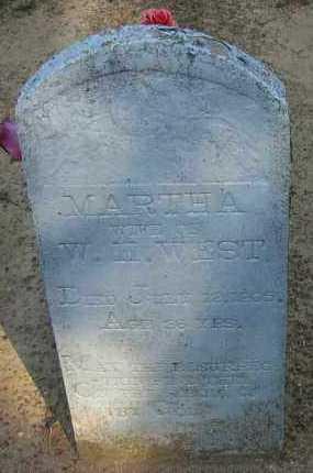 WEST, MARTHA A - Pope County, Arkansas | MARTHA A WEST - Arkansas Gravestone Photos