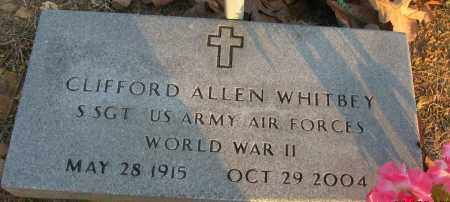 WHITBEY (VETERAN WWII), CLIFFORD ALLEN - Pope County, Arkansas | CLIFFORD ALLEN WHITBEY (VETERAN WWII) - Arkansas Gravestone Photos