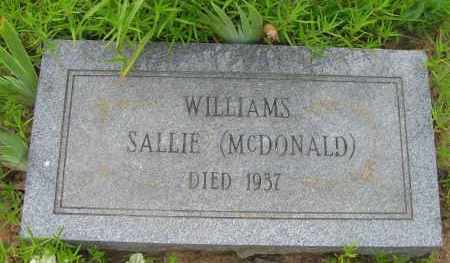MCDONALD WILLIAMS, SALLIE - Pope County, Arkansas | SALLIE MCDONALD WILLIAMS - Arkansas Gravestone Photos