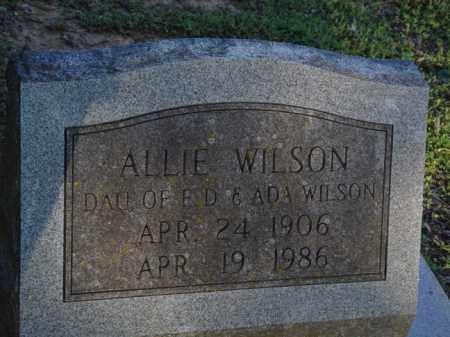 WILSON, ALLIE - Pope County, Arkansas | ALLIE WILSON - Arkansas Gravestone Photos