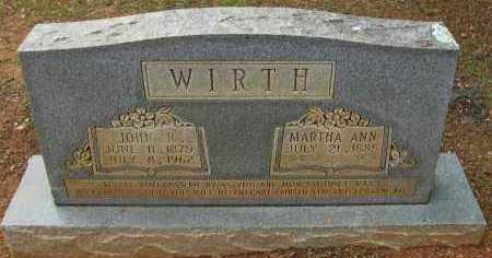 WIRTH, MARTHA ANN - Pope County, Arkansas | MARTHA ANN WIRTH - Arkansas Gravestone Photos