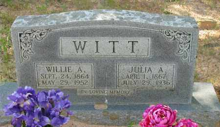 WITT, WILLIE A - Pope County, Arkansas | WILLIE A WITT - Arkansas Gravestone Photos