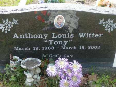 WITTER, ANTHONY - Pope County, Arkansas | ANTHONY WITTER - Arkansas Gravestone Photos