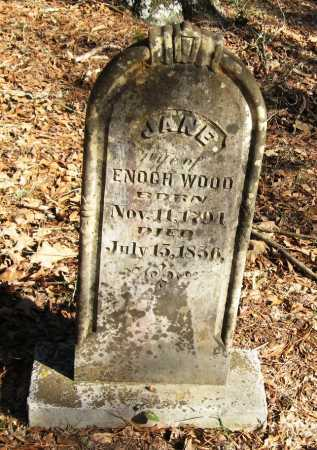 WOOD, JANE - Pope County, Arkansas | JANE WOOD - Arkansas Gravestone Photos