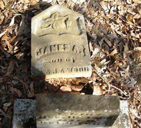 WOOD, JAMES A - Pope County, Arkansas | JAMES A WOOD - Arkansas Gravestone Photos