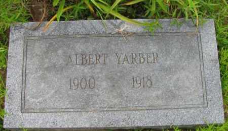 YARBER, ALBERT - Pope County, Arkansas | ALBERT YARBER - Arkansas Gravestone Photos