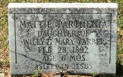 YARBER, MATTIE PARTHENIA - Pope County, Arkansas | MATTIE PARTHENIA YARBER - Arkansas Gravestone Photos