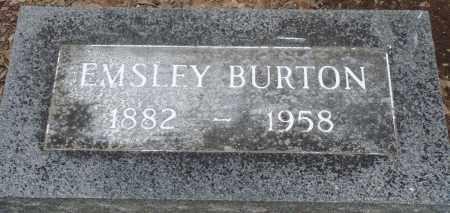 BURTON, EMSLEY - Prairie County, Arkansas | EMSLEY BURTON - Arkansas Gravestone Photos