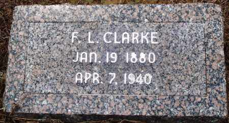 CLARKE, F L - Prairie County, Arkansas | F L CLARKE - Arkansas Gravestone Photos