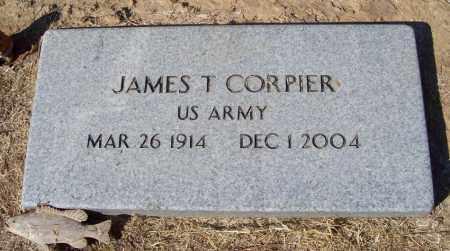 CORPIER  (VETERAN), JAMES T - Prairie County, Arkansas | JAMES T CORPIER  (VETERAN) - Arkansas Gravestone Photos