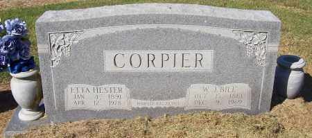 CORPIER, ETTA HESTER - Prairie County, Arkansas | ETTA HESTER CORPIER - Arkansas Gravestone Photos
