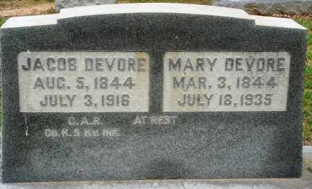 DEVORE, JACOB - Prairie County, Arkansas | JACOB DEVORE - Arkansas Gravestone Photos