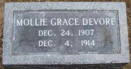 DEVORE, MOLLIE GRACE - Prairie County, Arkansas | MOLLIE GRACE DEVORE - Arkansas Gravestone Photos