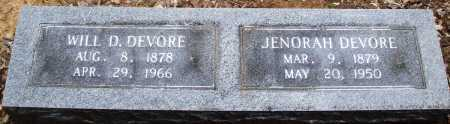 DEVORE, WILL D - Prairie County, Arkansas | WILL D DEVORE - Arkansas Gravestone Photos