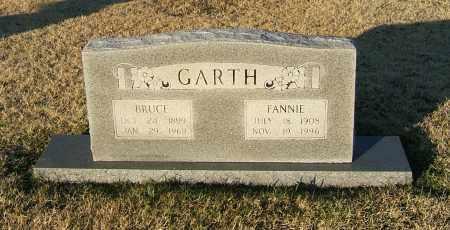 GARTH, FANNIE - Prairie County, Arkansas | FANNIE GARTH - Arkansas Gravestone Photos