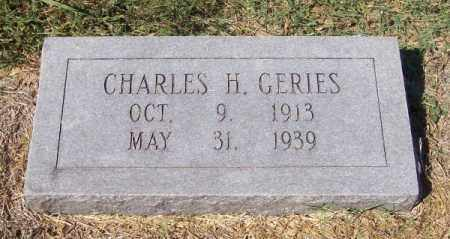 GERIES, CHARLES H - Prairie County, Arkansas | CHARLES H GERIES - Arkansas Gravestone Photos