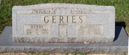 GERIES, HENRY - Prairie County, Arkansas | HENRY GERIES - Arkansas Gravestone Photos