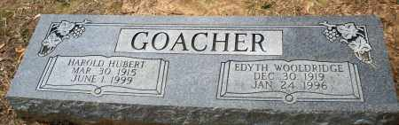 GOACHER, HAROLD HUBERT - Prairie County, Arkansas | HAROLD HUBERT GOACHER - Arkansas Gravestone Photos