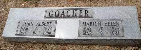 GOACHER, JOHN ALBERT - Prairie County, Arkansas | JOHN ALBERT GOACHER - Arkansas Gravestone Photos