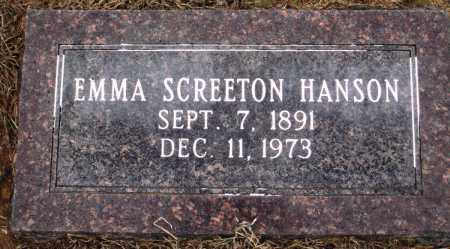 SCREETON HANSON, EMMA - Prairie County, Arkansas | EMMA SCREETON HANSON - Arkansas Gravestone Photos