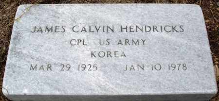 HENDRICKS (VETERAN KOR), JAMES CALVIN - Prairie County, Arkansas | JAMES CALVIN HENDRICKS (VETERAN KOR) - Arkansas Gravestone Photos