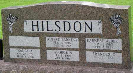 HILSDON, EARNEST ALBERT - Prairie County, Arkansas | EARNEST ALBERT HILSDON - Arkansas Gravestone Photos