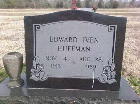 HUFFMAN, EDWARD IVEN - Prairie County, Arkansas | EDWARD IVEN HUFFMAN - Arkansas Gravestone Photos