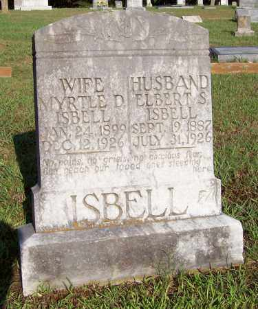 ISBELL, ELBERT S - Prairie County, Arkansas | ELBERT S ISBELL - Arkansas Gravestone Photos