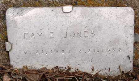 JONES, FAY E - Prairie County, Arkansas | FAY E JONES - Arkansas Gravestone Photos