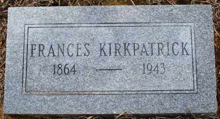 KIRKPATRICK, FRANCES - Prairie County, Arkansas | FRANCES KIRKPATRICK - Arkansas Gravestone Photos