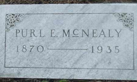 MCNEALY, PURL E - Prairie County, Arkansas | PURL E MCNEALY - Arkansas Gravestone Photos