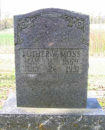 MOSS, LUTHER WILSON - Prairie County, Arkansas | LUTHER WILSON MOSS - Arkansas Gravestone Photos