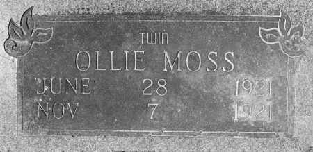 MOSS, OLLIE - Prairie County, Arkansas | OLLIE MOSS - Arkansas Gravestone Photos
